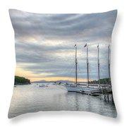 Bar Harbor Sunrise Throw Pillow