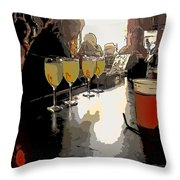 Bar Scene - Absinthe At Pirates Alley Throw Pillow