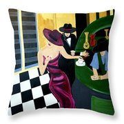 Bar Scene  Lets Have A Drink Throw Pillow