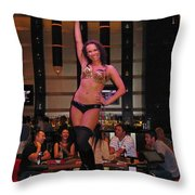 Bar Top Dancer In Las Vegas Throw Pillow