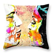 Barack And Michelle  Throw Pillow by Daniel Janda