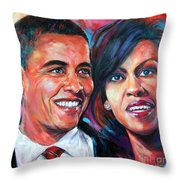 Barack And Michelle Obama Throw Pillow