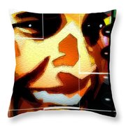 Barack Obama Throw Pillow by Daniel Janda