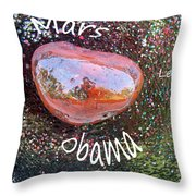 Barack Obama Mars Throw Pillow