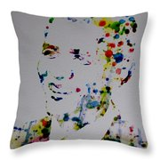 Barack Obama Paint Drops Throw Pillow