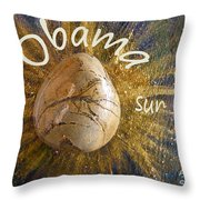 Barack Obama Sun Throw Pillow by Augusta Stylianou
