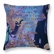 Barack With Michelle Throw Pillow by Tony B Conscious