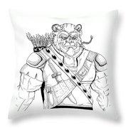 Baragh The Warrior Throw Pillow