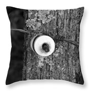 Barb Wire Insulator 3 Throw Pillow