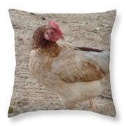 Barbados Free Range Chicken Throw Pillow