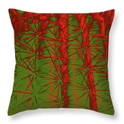 Barbed Abstract II Throw Pillow