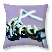 Barbed Violet Throw Pillow