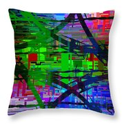 Barbed Wire Cubed 1 Throw Pillow