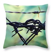 Barbed Wire Love-jealousy 2 Throw Pillow