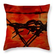 Barbed Wire Love Series  Rage Throw Pillow