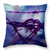 Barbed Wire Love Series The Blues 2 Throw Pillow