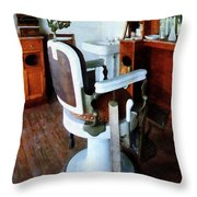 Barber - Barber Chair And Cash Register Throw Pillow