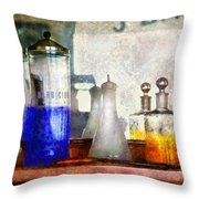 Barber - Blueberry Flavored Thanks For Asking Throw Pillow by Mike Savad