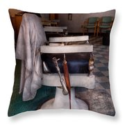 Barber - Frenchtown Nj - We Have Some Free Seats  Throw Pillow