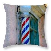 Barber Pole Throw Pillow