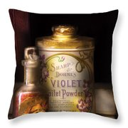 Barber -  Sharp And Dohmes Violet Toilet Powder  Throw Pillow by Mike Savad