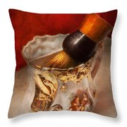 Barber - Shaving - The Beauty Of Barbering Throw Pillow by Mike Savad