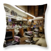 Barber Shop In Montgomery Alabama Throw Pillow