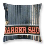 Barber Shop - Photopower Throw Pillow