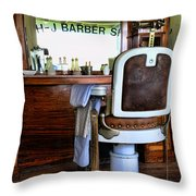 Barber - The Barber Shop Throw Pillow