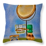 Barber - The Shaving Mirror Throw Pillow