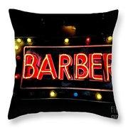 Barber This Way Throw Pillow