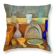 Barbers Tools Of The Trade  Throw Pillow