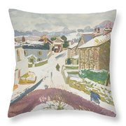 Barbon In The Snow Throw Pillow