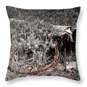 Barbwire Wreath 1 Throw Pillow
