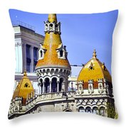 Barcelona Architecture Throw Pillow