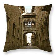 Barcelona Backstreets Throw Pillow