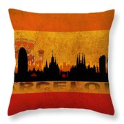 Barcelona City Throw Pillow
