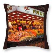 Barcelona Food Court Throw Pillow