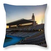 Barcelona Olympic Stadium Throw Pillow
