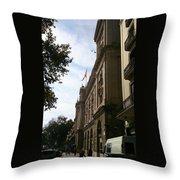 Barcelona Street Throw Pillow