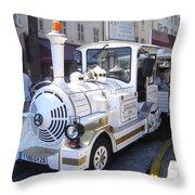 Barcelona Train Ride Throw Pillow
