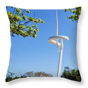 Barcelona Tv Tower/sun Dial Throw Pillow