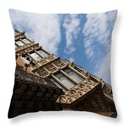 Barcelona's Marvelous Architecture - Avenue Diagonal Facade Throw Pillow