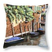 Barche A Venezia Throw Pillow