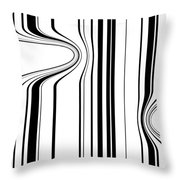 Barcode  C2014 Throw Pillow by Paul Ashby