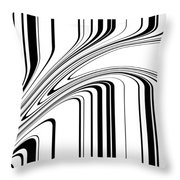 Barcode II  C2014 Throw Pillow by Paul Ashby