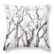 Bare Branches Print Option 2 Throw Pillow