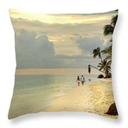 Barefoot On The Beach Throw Pillow