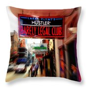 Barely Legal Throw Pillow