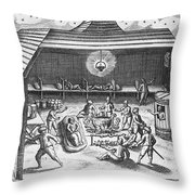 Barents Expedition Wintering In Arctic Throw Pillow